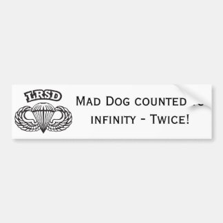 Mad Dog Bumper Sticker 3