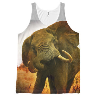 Mad Elephant All-Over Print Tank Top