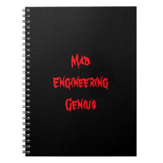 Mad Engineering Genius Geeky Geek Nerd Gifts Spiral Notebook