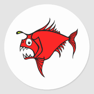 Mad Fish Red sticker