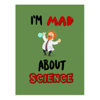Mad for Science Postcard