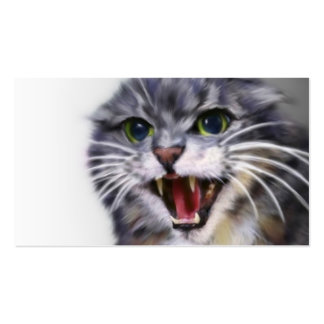 Mad Gray Cat Business Cards