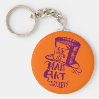 Mad Hat Society Basic Round Button Key Ring