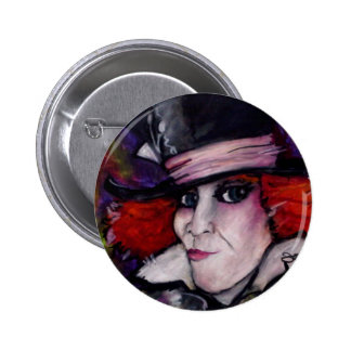 Mad Hatter 6 Cm Round Badge