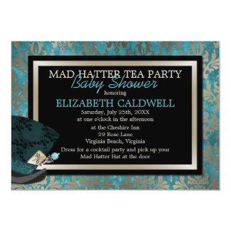 Mad Hatter Alice in Wonderland Bridal Shower Card
