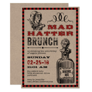 Mad Hatter Brunch Party Card