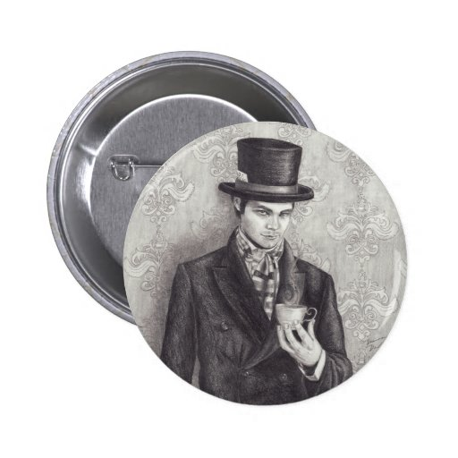 Mad Hatter Button