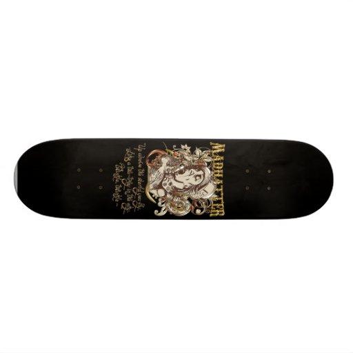 Mad Hatter Carnivale Style (with poem) Custom Skateboard