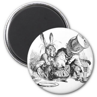 Mad Hatter, Dormouse and March Hare Refrigerator Magnets