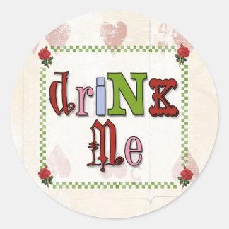 Mad Hatter Drink Me Sticker