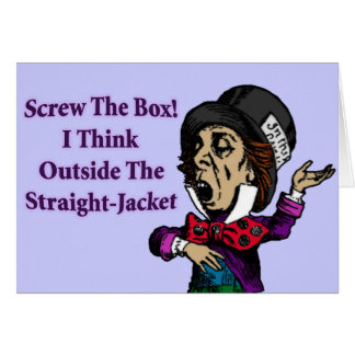 Mad Hatter Funny Motivational Quote Cards
