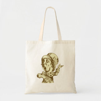 Mad Hatter Inked Sepia Tote Bag