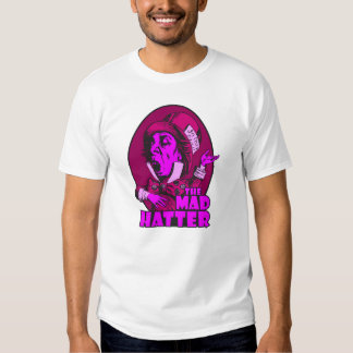 Mad Hatter Logo Pink T-shirts