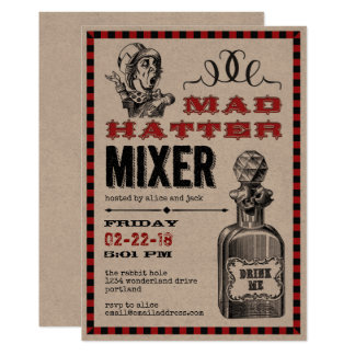 Mad Hatter Mixer Party Card