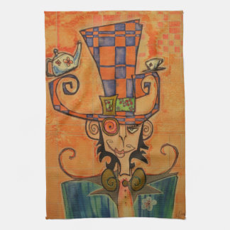 Mad Hatter Portrait Tea Towel