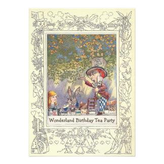 Mad Hatter s Wonderland Birthday Tea Party Personalized Invitation