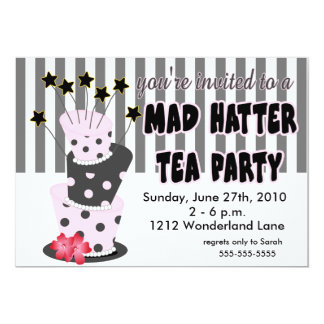 Mad Hatter Tea Party 13 Cm X 18 Cm Invitation Card