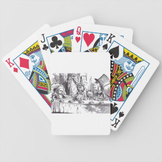 Mad Hatter Tea Party Bicycle Playing Cards