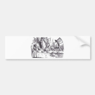 Mad Hatter Tea Party Bumper Sticker