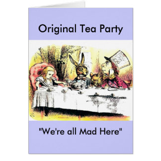 Mad Hatter Tea Party Cards