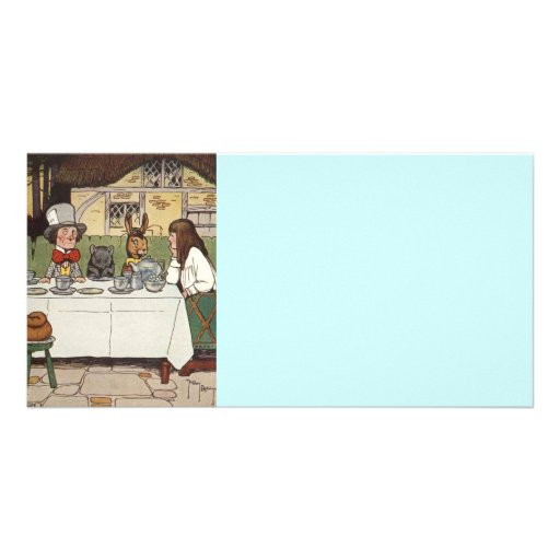 Mad Hatter Tea Party Customized Photo Card