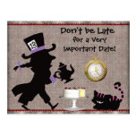 Mad Hatter Tea Party Save the Date Baby Shower Post Cards
