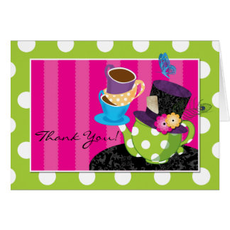 Mad Hatter Tea Party Thank You Card