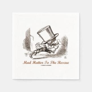 Mad Hatter To The Rescue Wonderland Sentiment Disposable Serviette