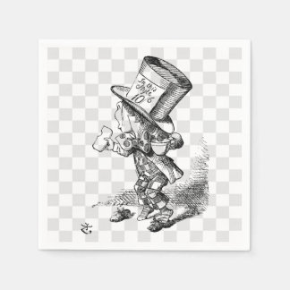 Mad Hatter with Biscuit and Tea Disposable Napkin