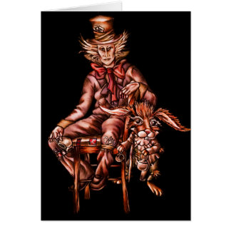 Mad Hatter with March Hare Card
