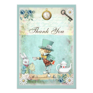 Mad Hatter Wonderland Baby Shower Thank You Card