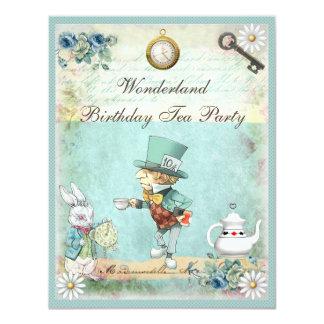 Mad Hatter Wonderland Birthday Tea Party Card