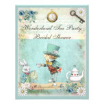 Mad Hatter Wonderland Tea Party Bridal Shower Personalized Invite