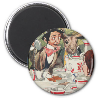 Mad Hatters Tea Party 6 Cm Round Magnet