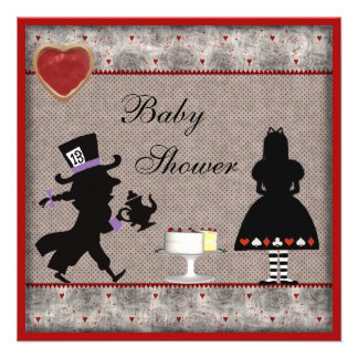 Mad Hatter's Tea Party Baby Shower Invites