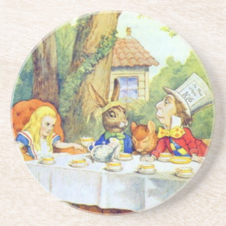 Mad Hatters Tea Party Color Sandstone Coaster