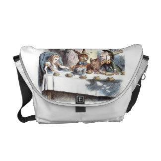 Mad Hatters Tea Party in Pastels Messenger Bag