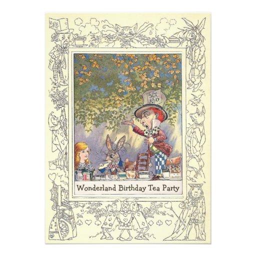 Mad Hatter's Wonderland Birthday Tea Party Personalized Invitation