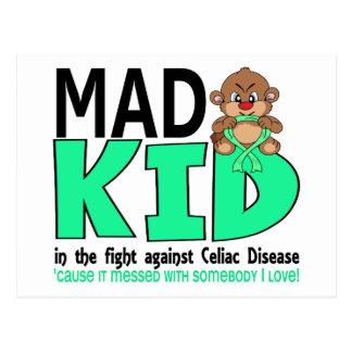 Mad Kid Celiac Disease Postcard