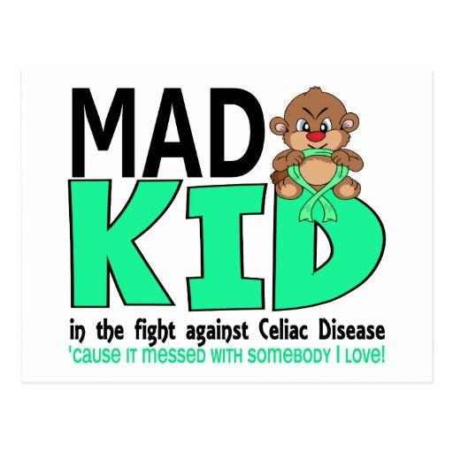 Mad Kid Celiac Disease Post Cards