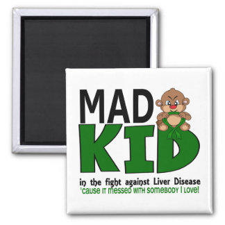 Mad Kid Liver Disease Fridge Magnets