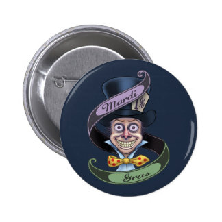 Mad Mardi Gras Pinback Button
