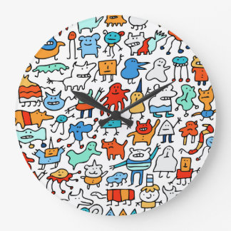 Mad Monster Friends Wall Clock