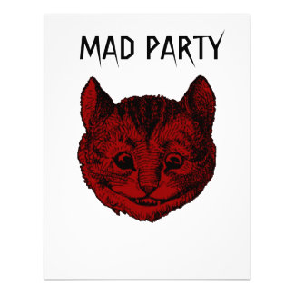 Mad Party Cheshire Cat Birthday Invites