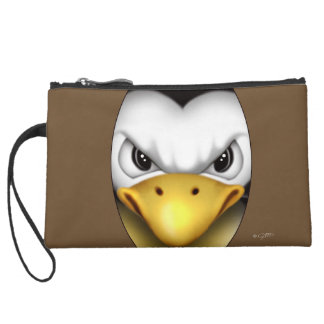 MAD PINGOUIN Sueded Mini Clutch