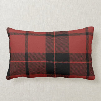 Mad Plaid Red Pillow