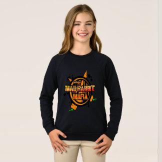 Mad Rabbit Girls' Raglan Sweatshirt, Black Sweatshirt