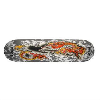 mad robot asian dragon deck skate board deck