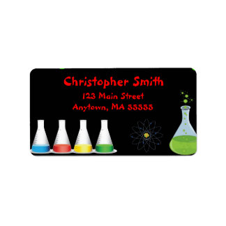 Mad Science Birthday Party Address Labels