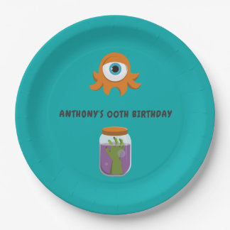 Mad Science Birthday Party Paper Plate